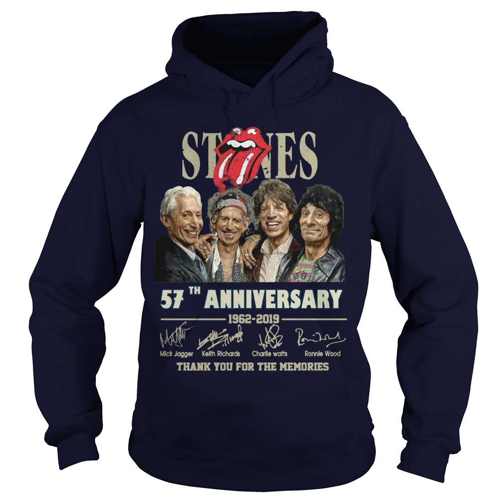 Rolling Stones 57th Anniversary 1962 2019 Thank You For The Memories Hoodie