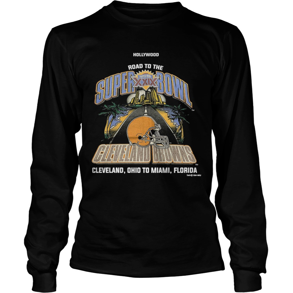 Wood Road To The Super Bowl Cleveland Browns Longsleeve Tee