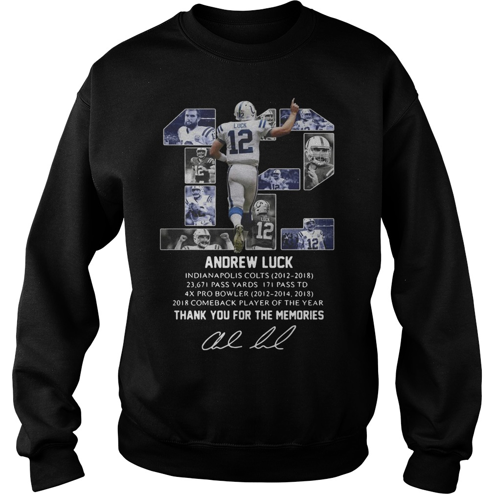 12 Andrew Luck Thank You For The Memories Sweater