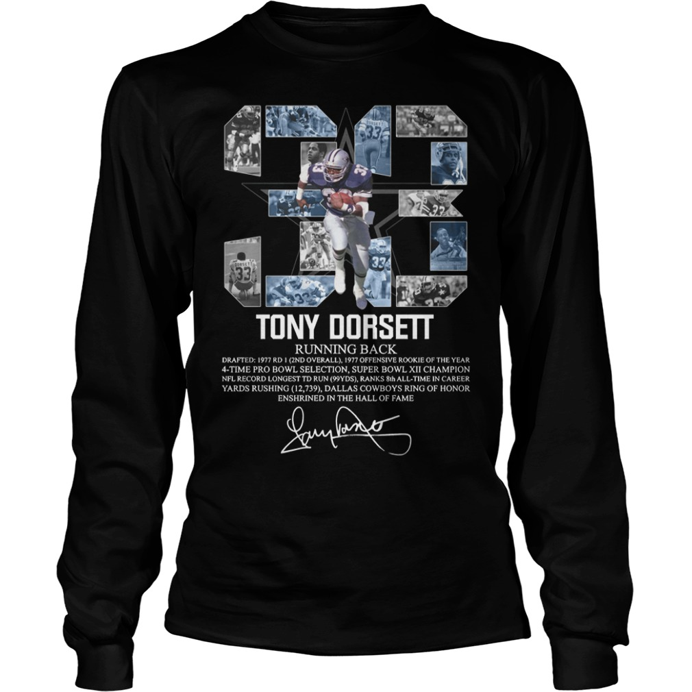 33 Tony Dorset Running Back Longsleeve Tee
