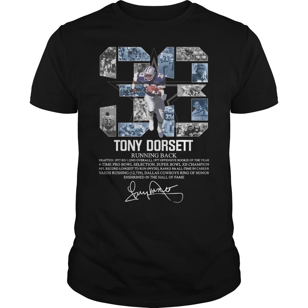 33 Tony Dorset Running Back Shirt