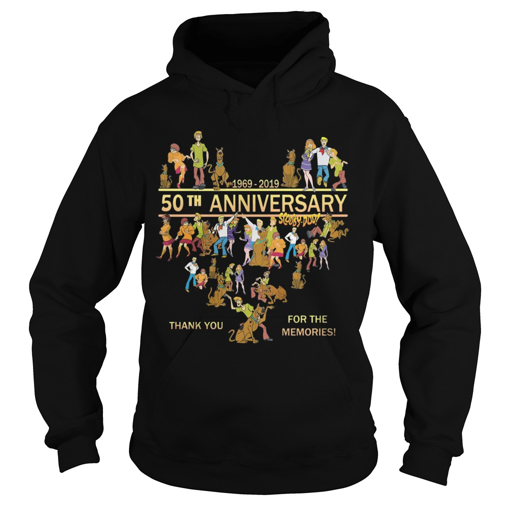 50th Anniversary Scooby Doo 1969 2019 Thank You For The Memories Hoodie