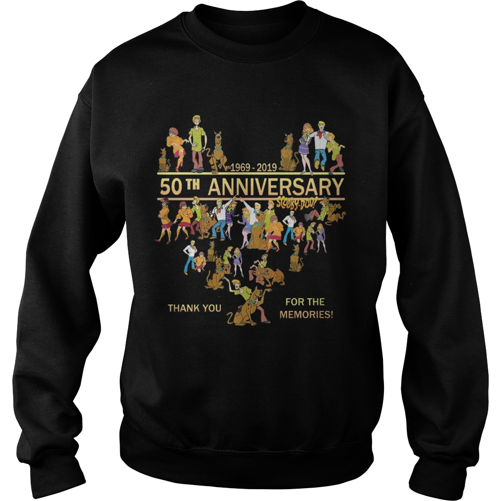 50th Anniversary Scooby Doo 1969 2019 Thank You For The Memories Sweater
