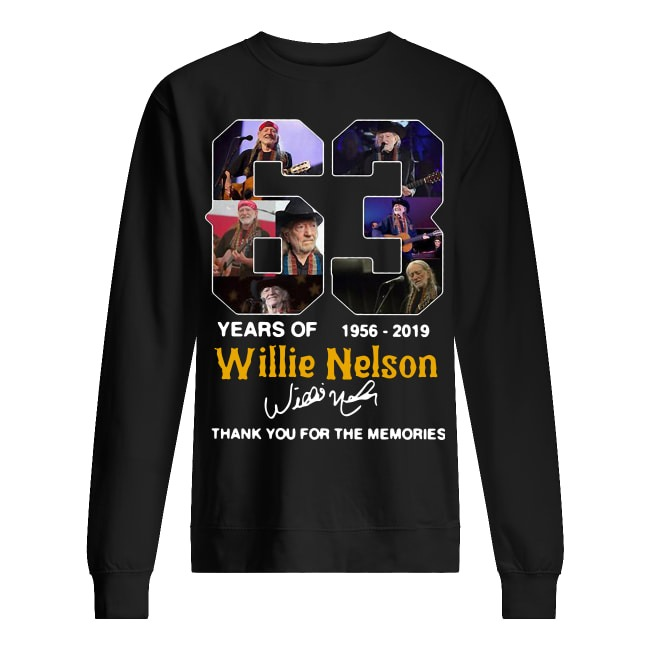 63 Years Of Willie Nelson 1956 2019 Thank You For The Memories Sweater