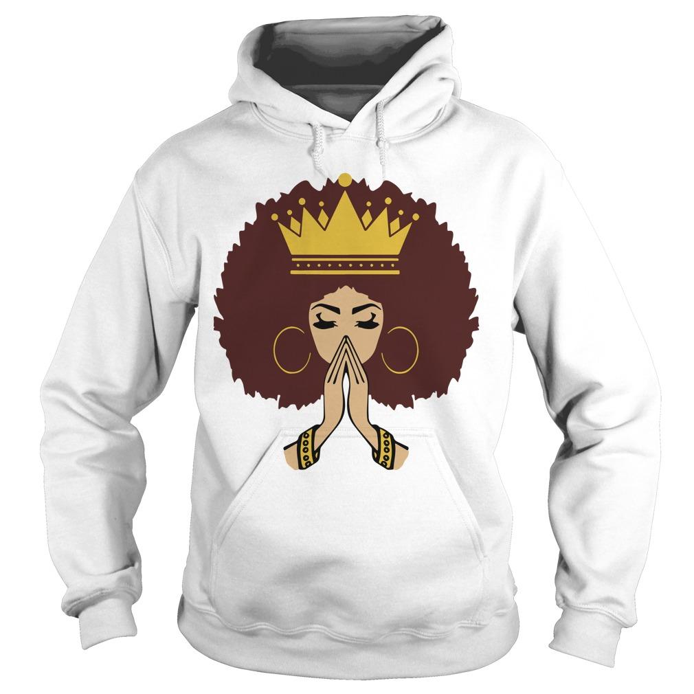 Afro Queen Living My Best Life Black Girl Melanin Magic Hoodie