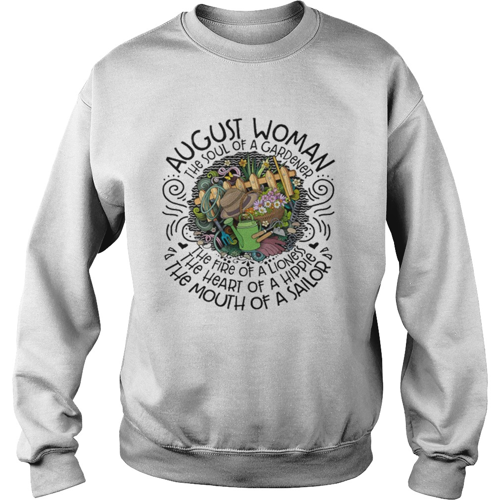 August Woman The Soul Of A Gardener The Fire Of A Lioness Sweater