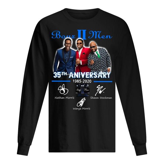 Boyz 2 Men 35th Anniversary 1985 2020 Signatures Longsleeve Tee