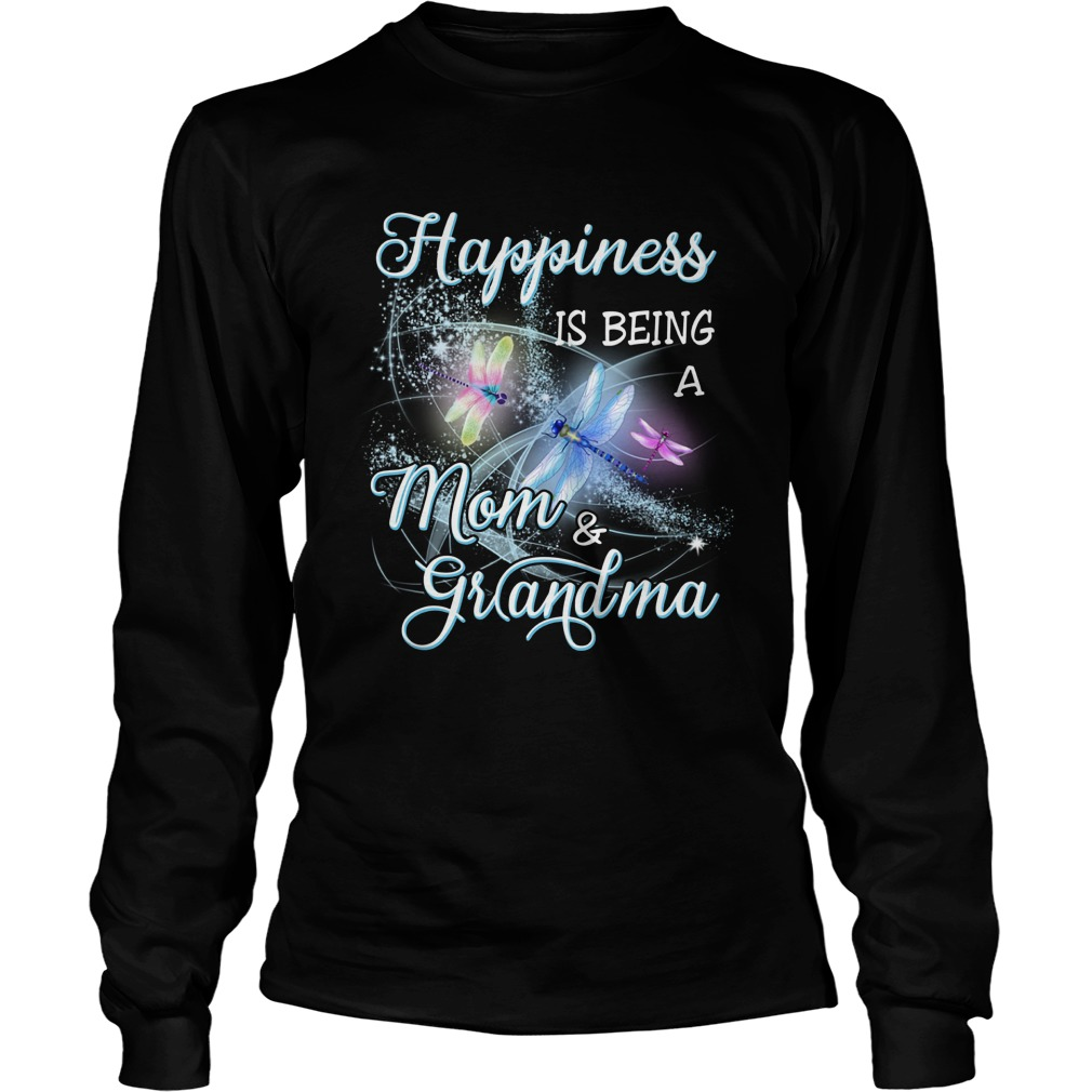 Butterfly Happiness Is Being A Mom And Grandma Longsleeve Tee