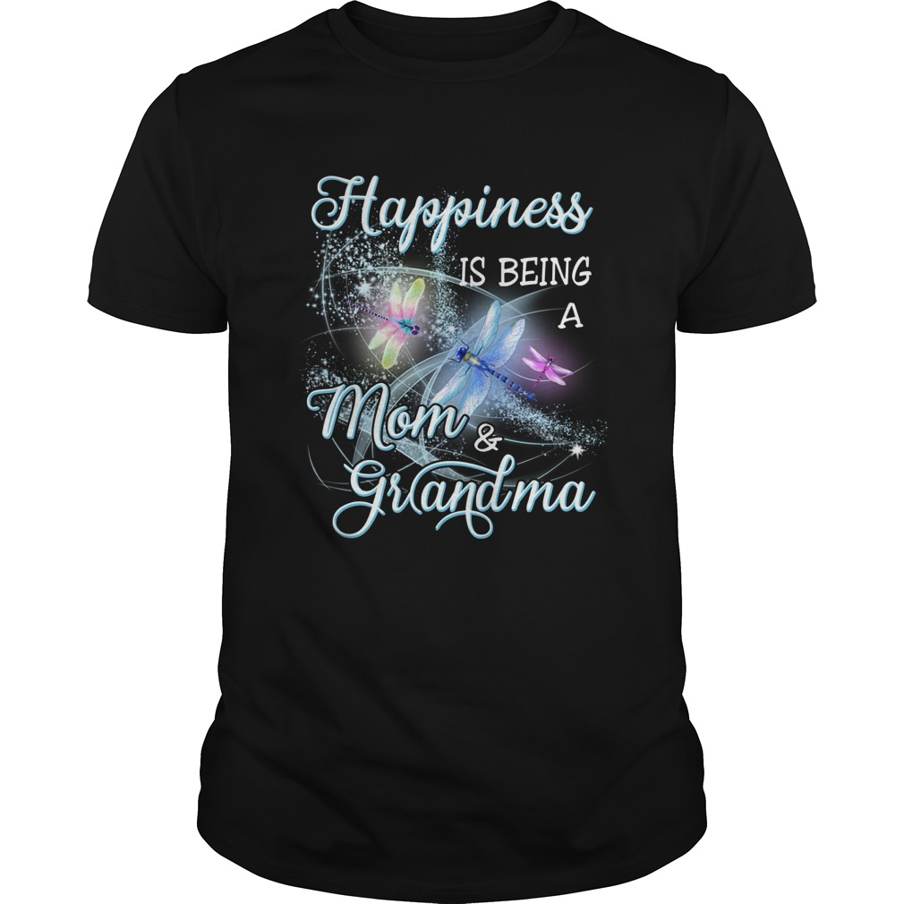 Butterfly Happiness Is Being A Mom And Grandma Shirt