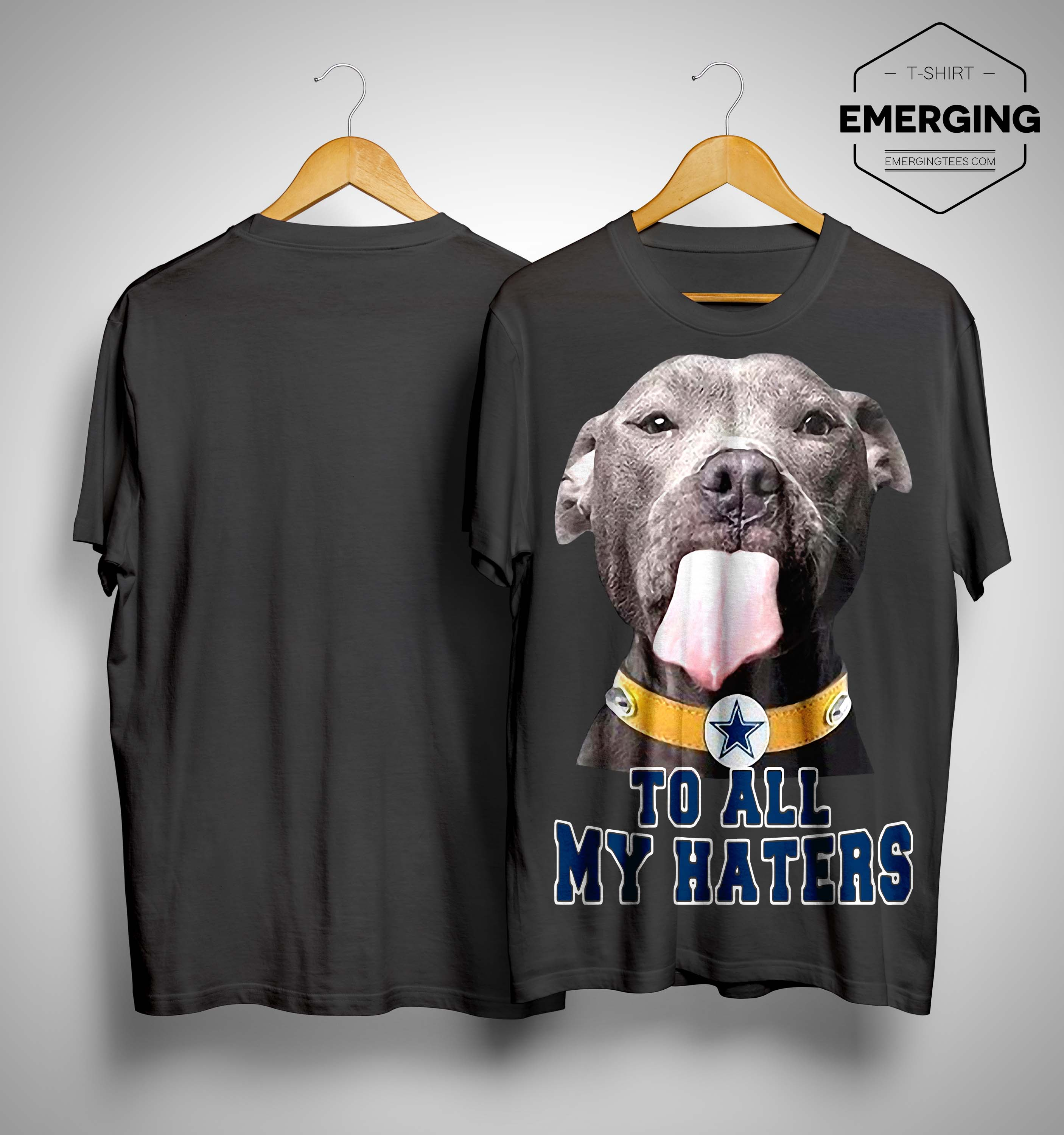 newest 6f5a7 77f84 Dallas Cowboys Pitbull To All My Haters Shirt, Sweater and ...
