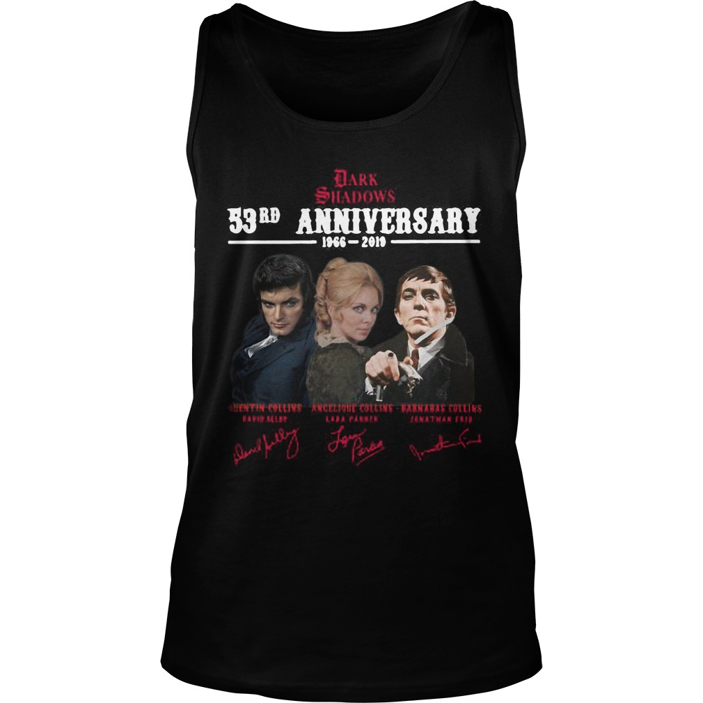 Dark Shadows 53rd Anniversary 1966 2019 Signatures Tank Top
