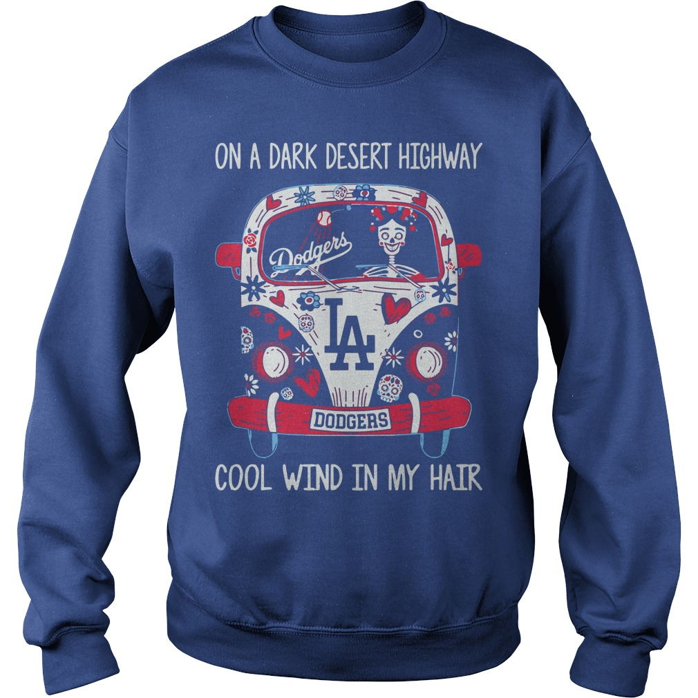 Dodgers On A Dark Desert Highway Cool Wind In My Hair Sweater