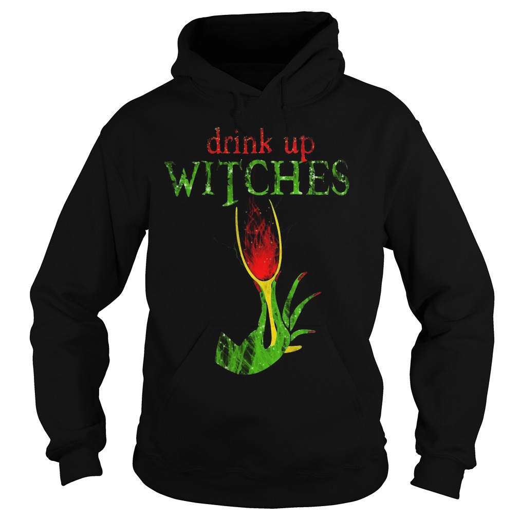 Grinch Drink Up Witches Hoodie