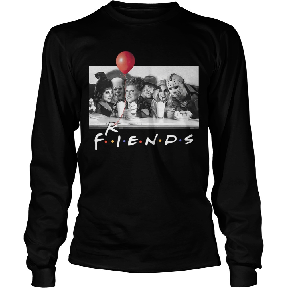 Horror Characters And Hocus Pocus Tv Show Friends Longsleeve Tee