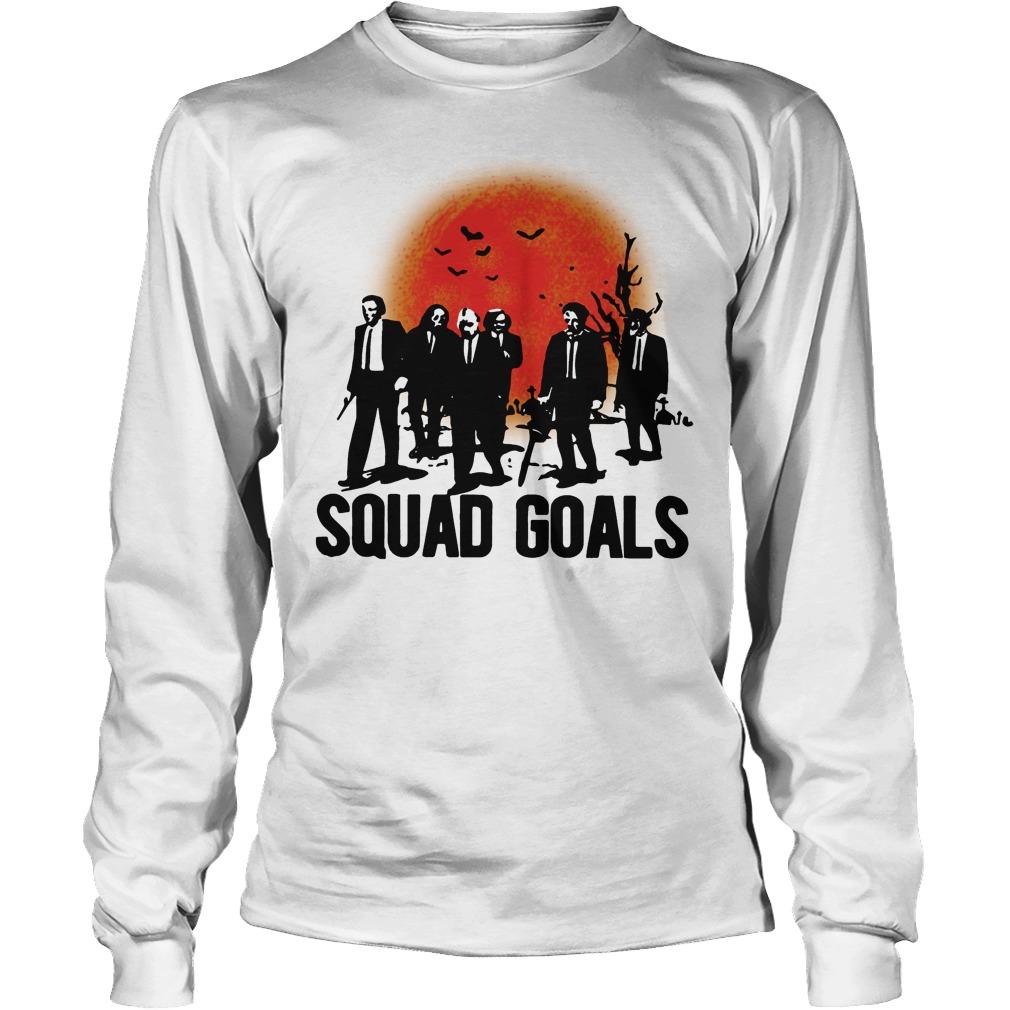 Horror Characters Squad Goals Longsleeve Tee