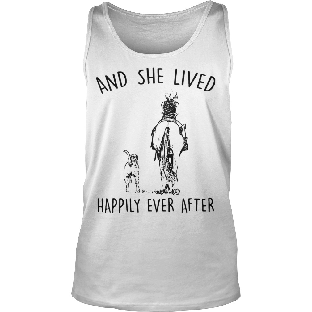 Horse And Dog And She Lived Happily Ever After Tank Top