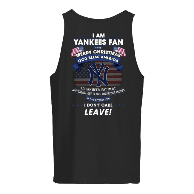 I Am Yankees Fan Merry Christmas God Bless America Tank Top