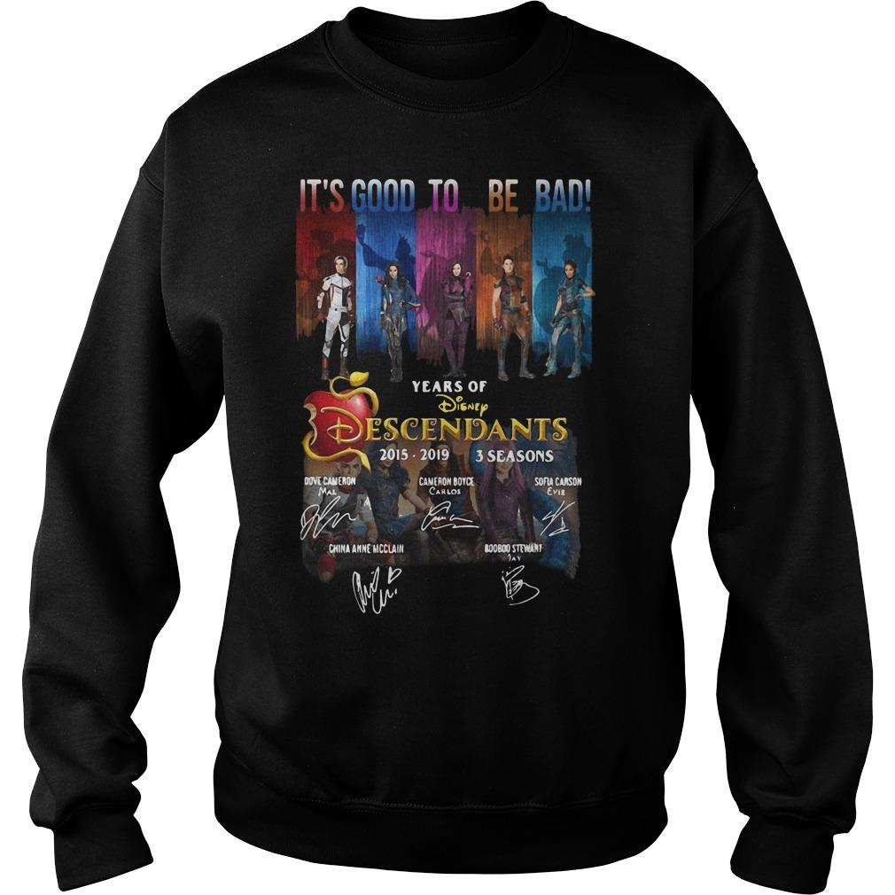 It's Good To Be Bad 4 Years Of Disney Descendants 2015 2019 Signatures Sweater