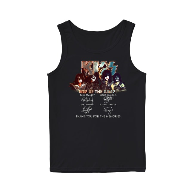 Kiss End Of The Road Thank You For The Memories Tank Top