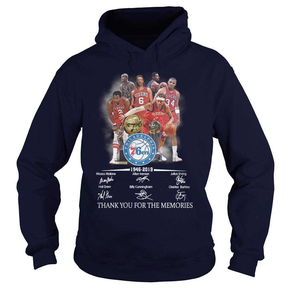 Philadelphia 76ers 1946 2019 Thank You For The Memories Hoodie
