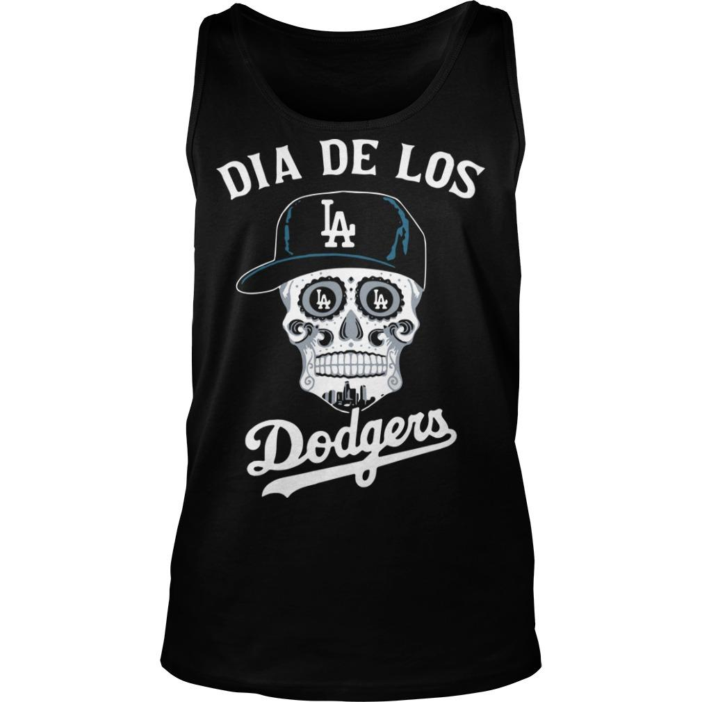 Skull Los Angeles Dia De Los Dodgers Tank Top