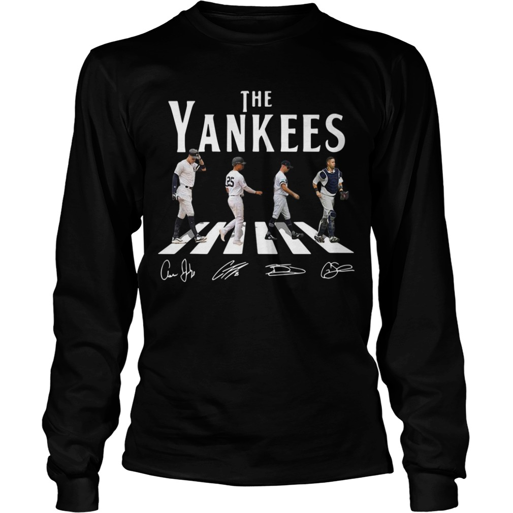 The Yankees Abbey Road Signatures Longsleeve Tee