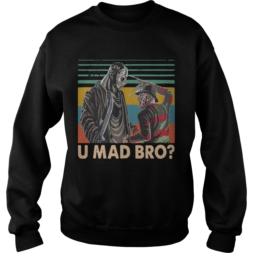Vintage Freddy Krueger And Jason Voorhees U Mad Bro Sweater