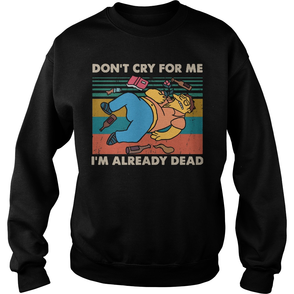 Vintage Simpsons Don't Cry For Me I'm Already Dead Sweater