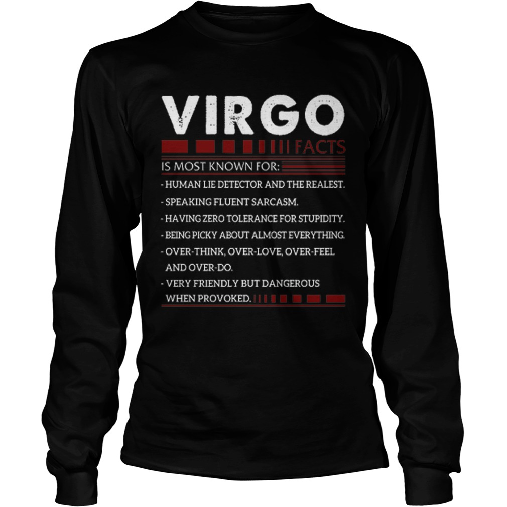 Virgo Facts Is Most Known For Human Lie Detector And The Realest Longsleeve Tee