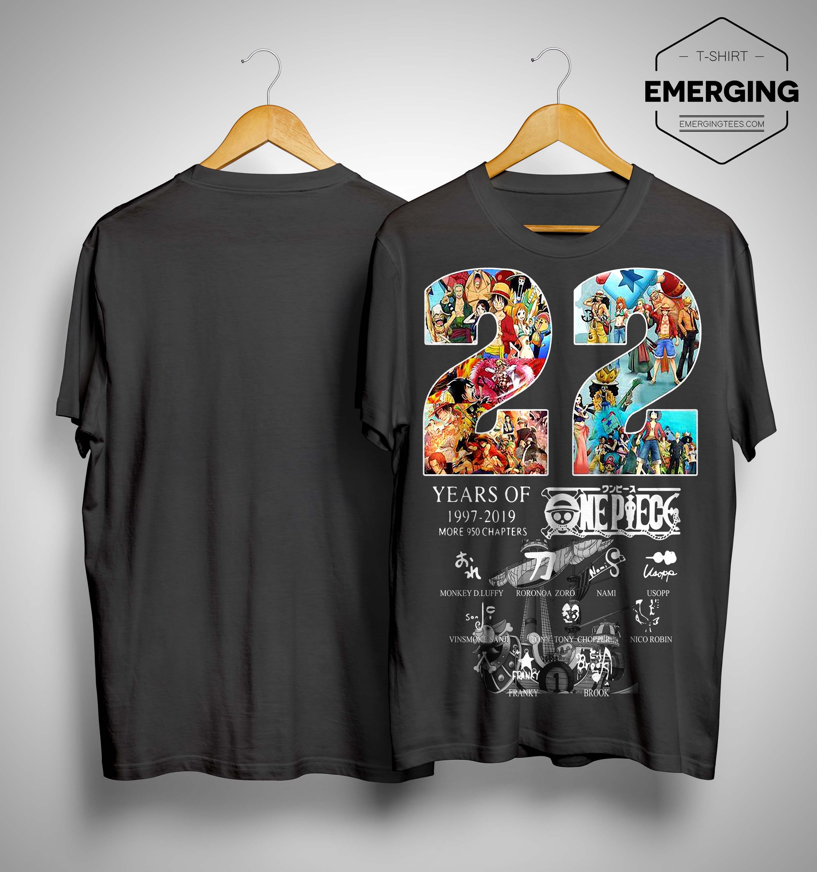 22 Years Of One Piece 1997 2019 Signatures Shirt