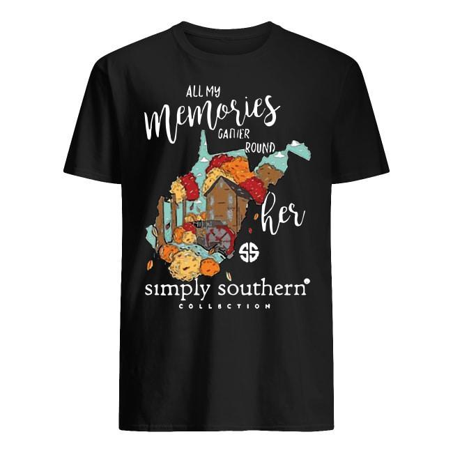 All My Memories Gather Round Her Simply Southern Collection Shirt