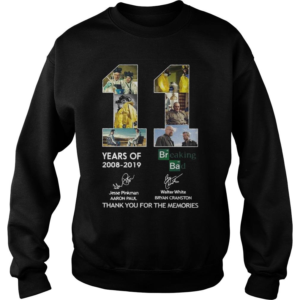 11 Years Of Breaking Bad Thank You For The Memories Signatures Sweater