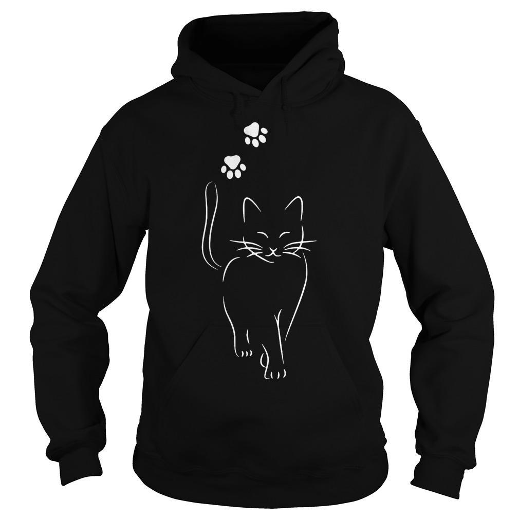 Cat Going And Paws Hoodie