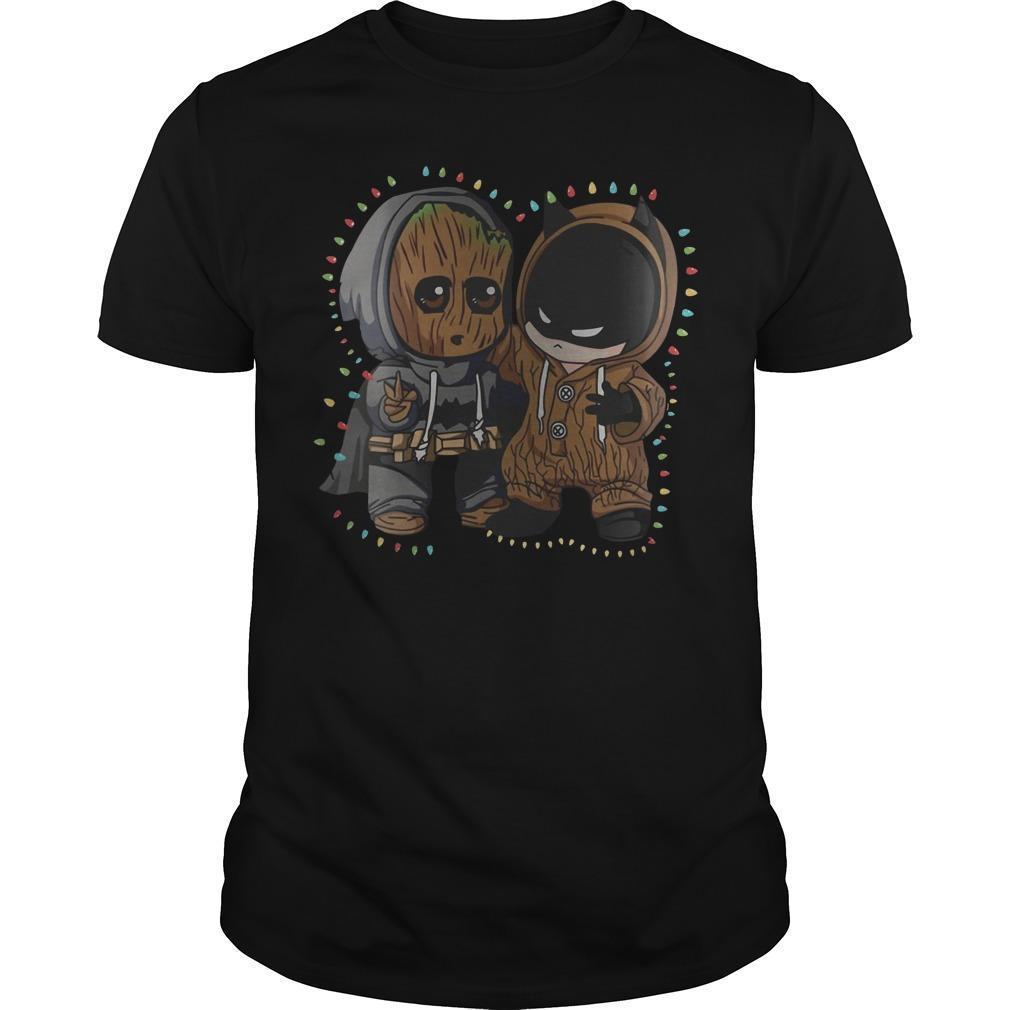 Christmas Lights Baby Groot Batman Friend Shirt