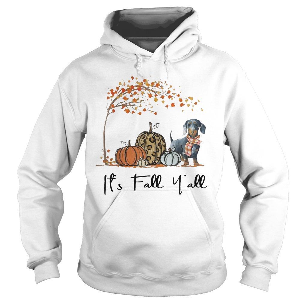 Dachshund It's Fall Y'all Hoodie