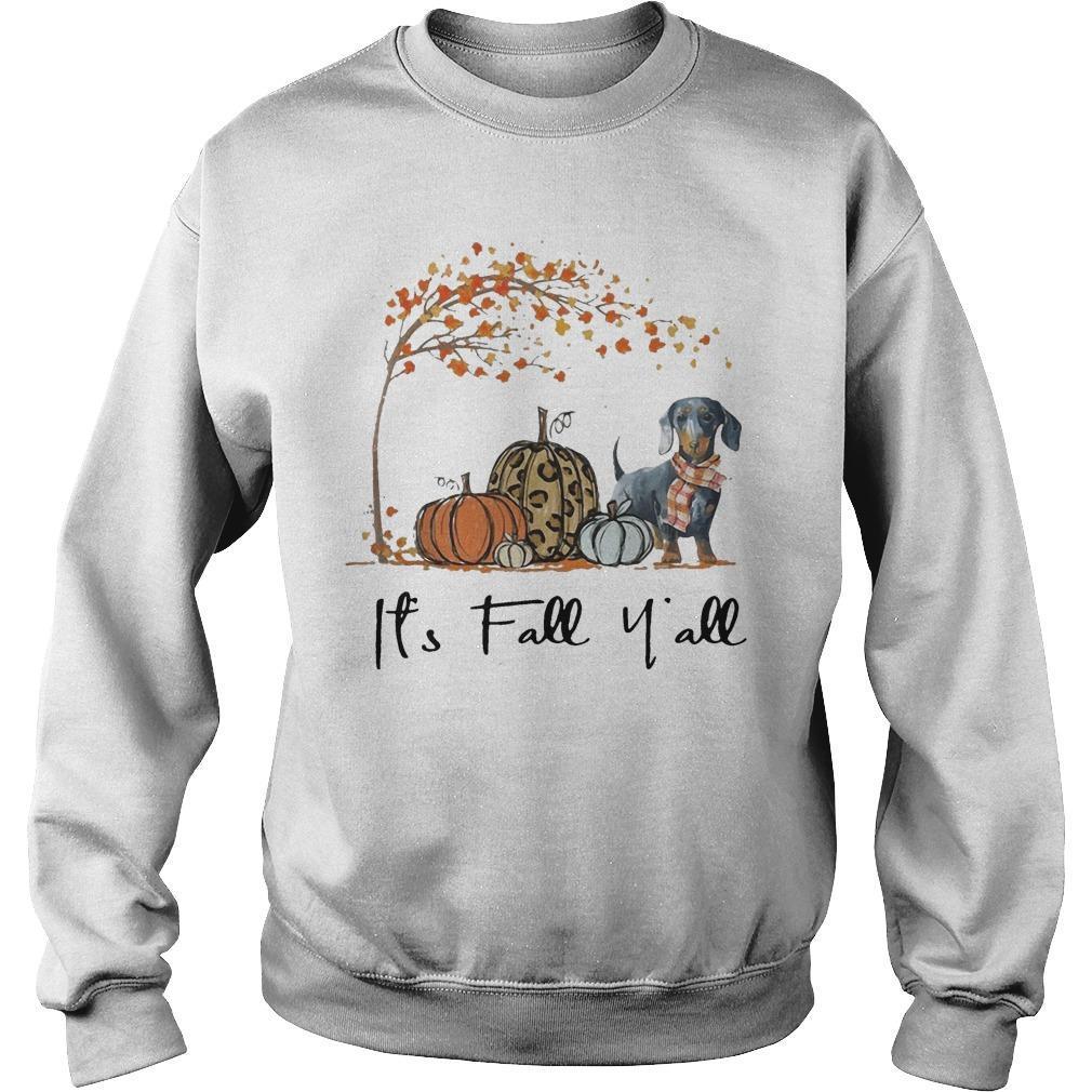 Dachshund It's Fall Y'all Sweater