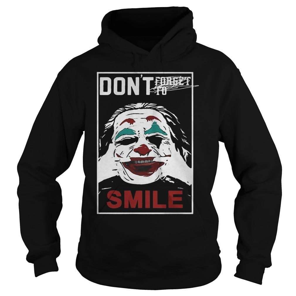 Joker Don't Forget To Smile Hoodie