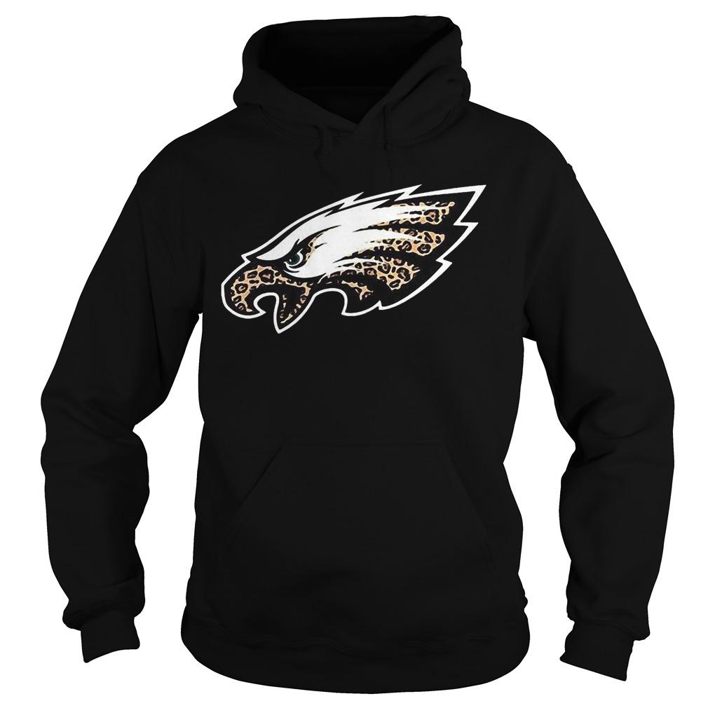 Leopard Layer Philadelphia Eagles Logo Hoodie
