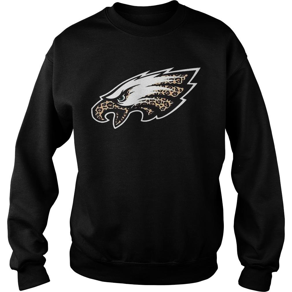 Leopard Layer Philadelphia Eagles Logo Sweater