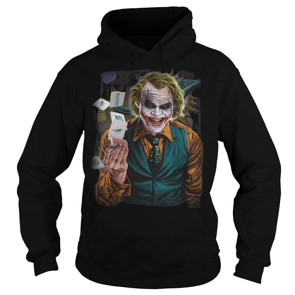 Miami Dolphins Poker Joker Hoodie