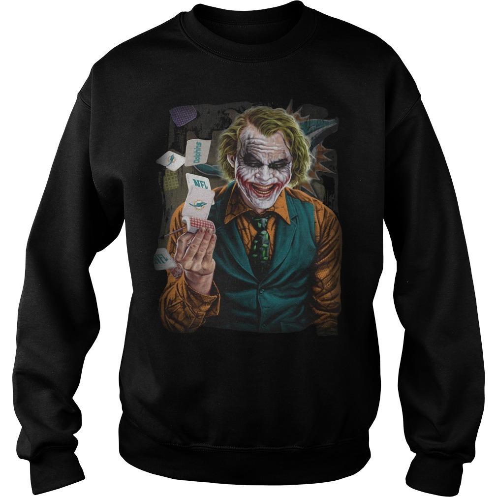 Miami Dolphins Poker Joker Sweater