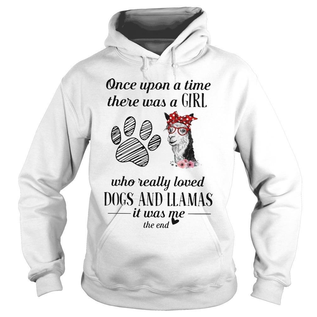 Once Upon A Time There Was A Woman Who Really Loved Dogs And Llamas Hoodie