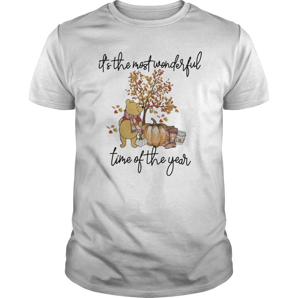 Pooh Pumpkin It's The Most Wonderful Time Of The Year Shirt