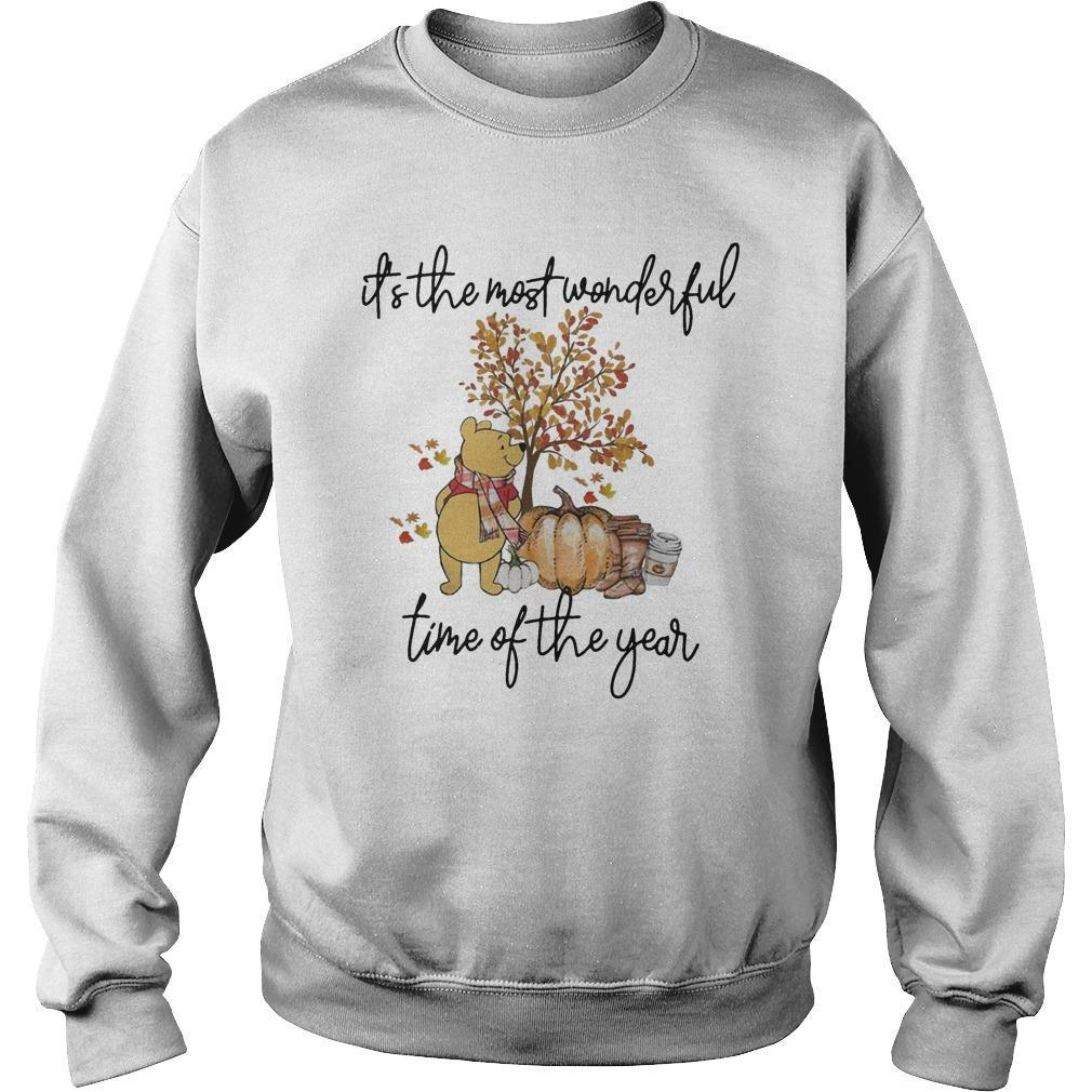 Pooh Pumpkin It's The Most Wonderful Time Of The Year Sweater