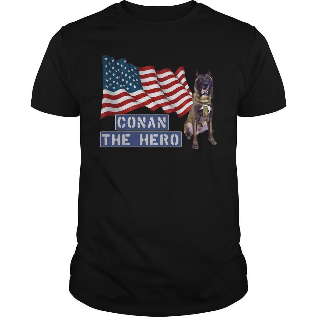 American Flag Zero Bark Thirty Conan The Hero Shirt