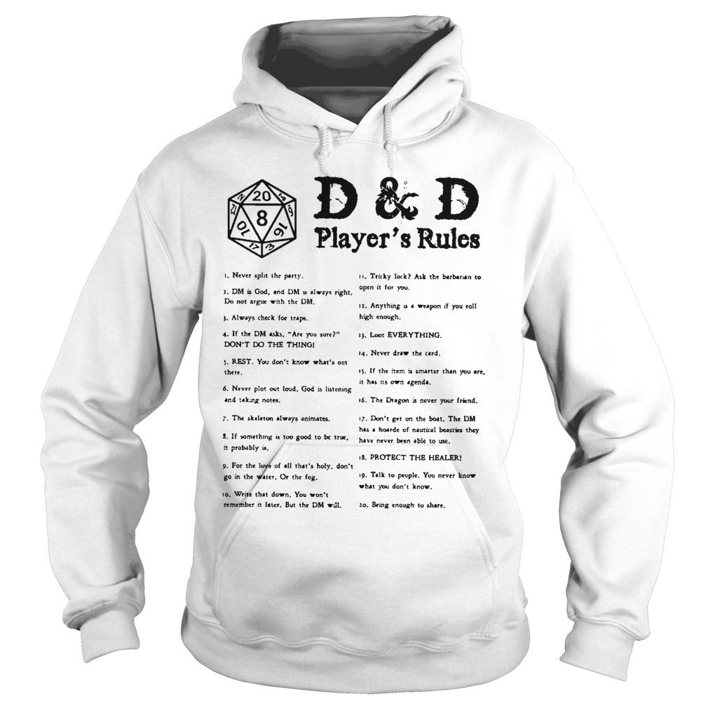 D & D Player's Rules Hoodie
