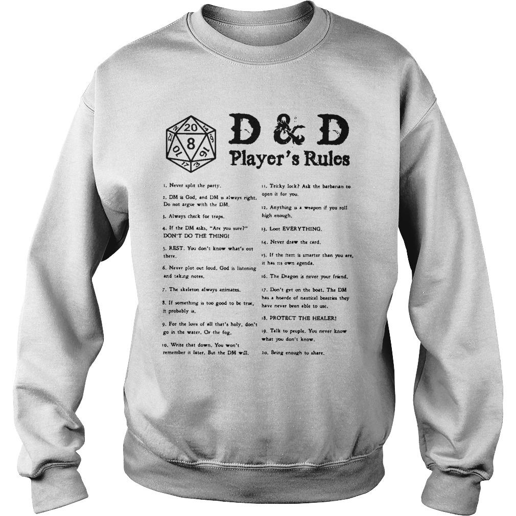 D & D Player's Rules Sweater