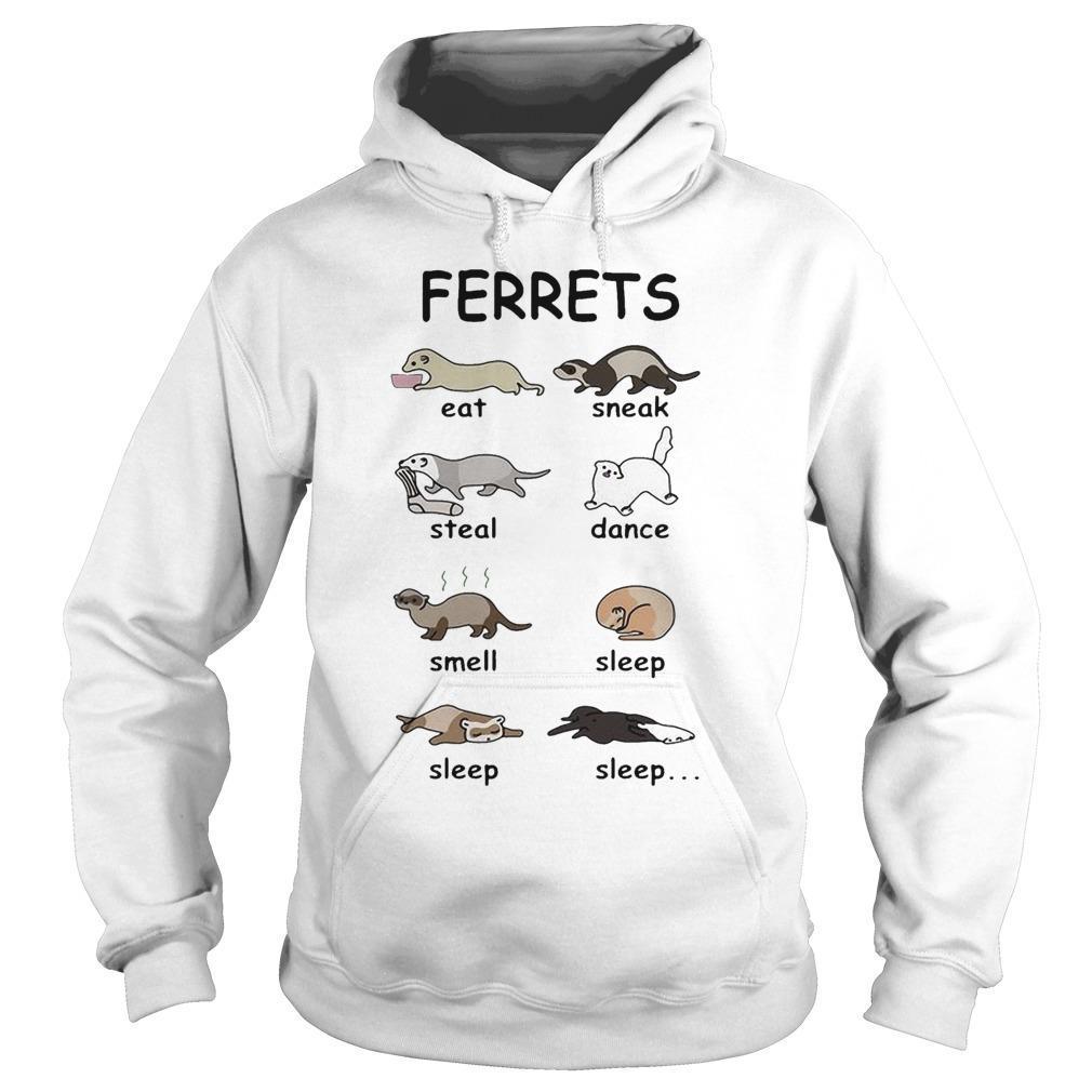 Ferrets Eat Sneak Steal Dance Smell Sleep Hoodie