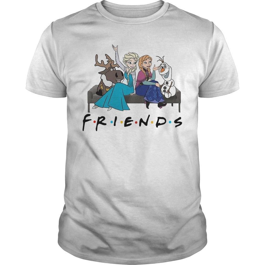 Frozen Elsa Anna And Olaf Friends Shirt