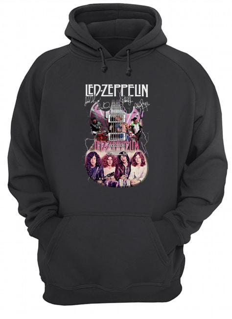 Guitar Signatures Led Zeppelin T Hoodie